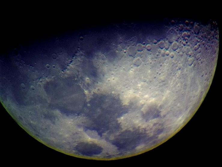 March 31, 2012 - Half Moon - Astrophotography