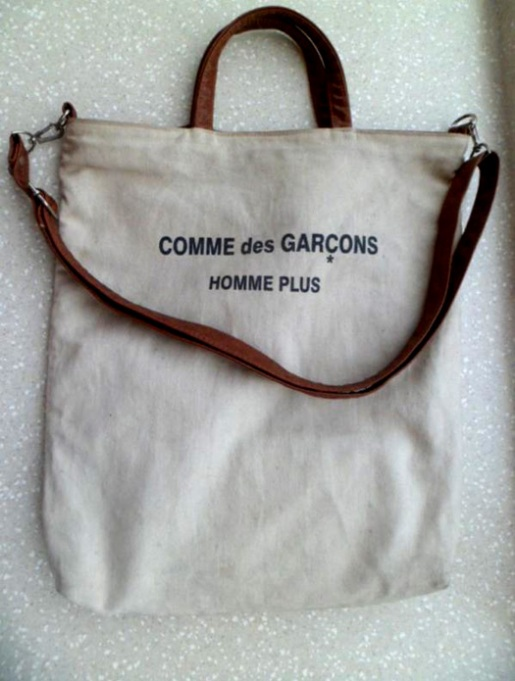 comme des garçons canvas and leather tote manila philippines