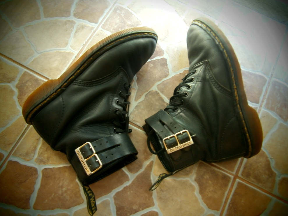 8-Hole Doc Martens with leather strap and buckle detail - Manila, Philippines