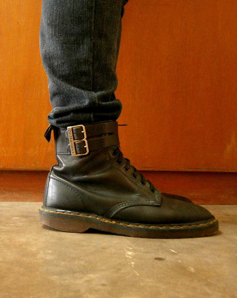 8-hole Doc Martens with leather and strap detail, along with my favorite pair of jeans! - Manila, Philippines