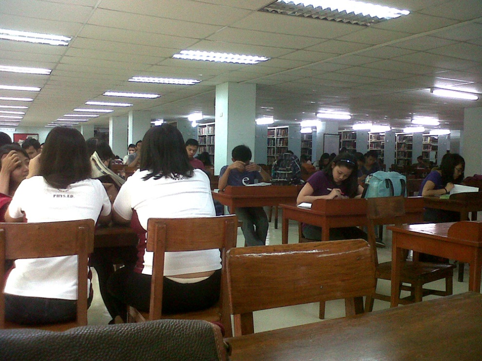 Students pretending to study. Just kidding. =)