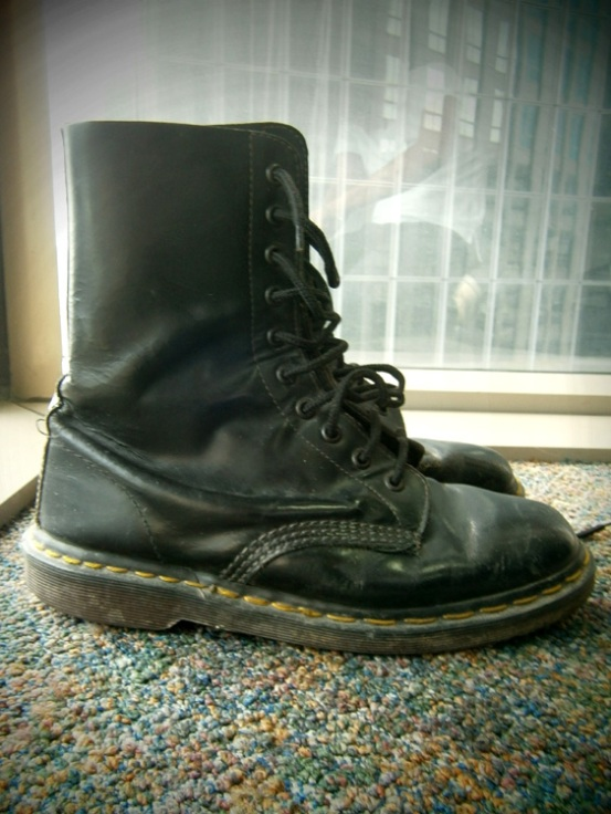 black 10 hole Doc Martens