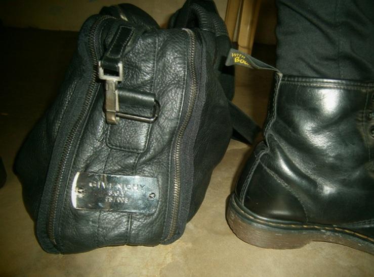 Givenchy Luggage/Duffle Bag, Black 8-Hole Doc Martens - Govenchy Bag Philippines