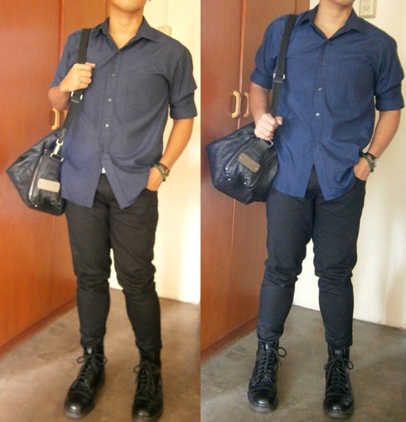 Givenchy Luggage/Duffle Bag, Versace Classic Shirt, Black 8-Hole Doc Martens - Givenchy bag philippines