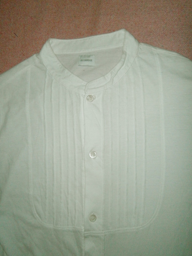 Jil Sander white button up shirt with ribbed detail - Manila, Philippines