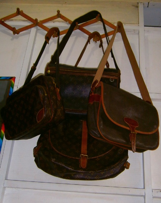 The LV sling and messengers (with the vintage Mulberry) - Manila, Philippines