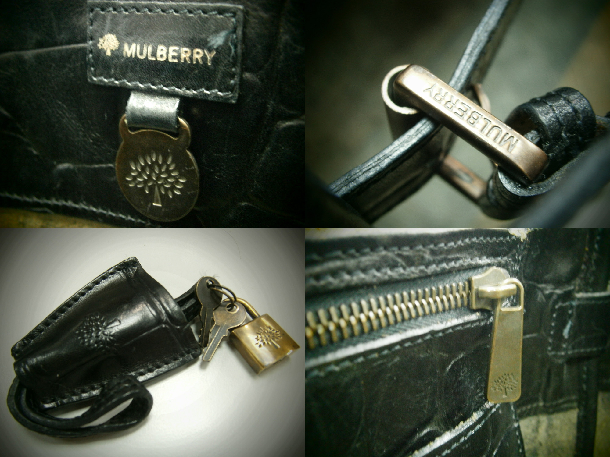 1ddbc1c572a Mulberry Bayswater in Congo Leather - leather tag, buckles, clochette, lock,  zipper