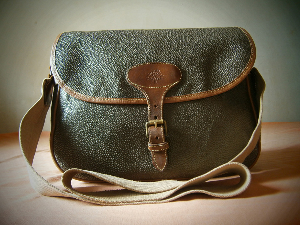 Vintage Mulberry Scotchgrain messenger bag manila philippines