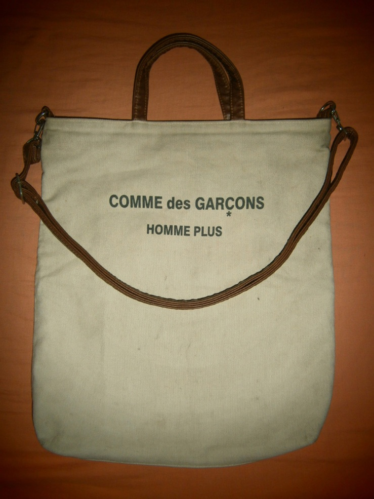 I'm on the fence about this Comme des Garçons Canvas and Leather Tote