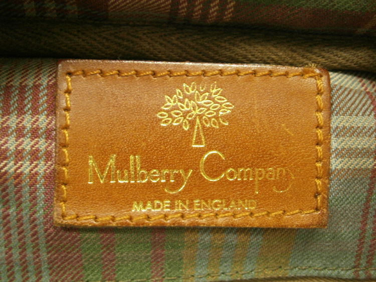 Leather tag - vintage Mulberry Scotchgrain messenger bag manila philippines