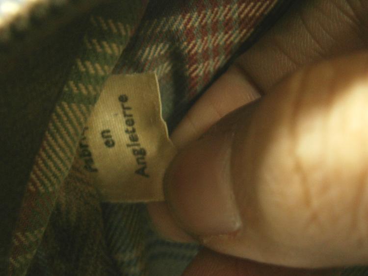 """Fabrique en Angleterre"" tag - vintage Mulberry Scotchgrain messenger bag manila philippines"