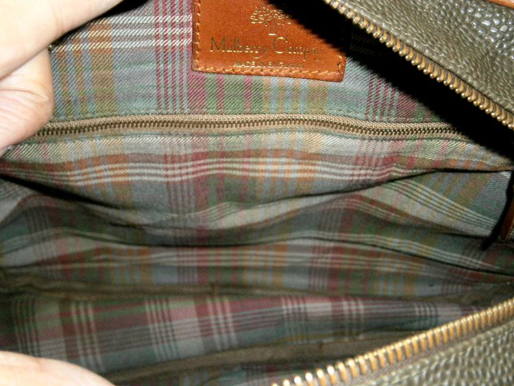 Tartan lining - vintage Mulberry Scotchgrain messenger bag manila philippines