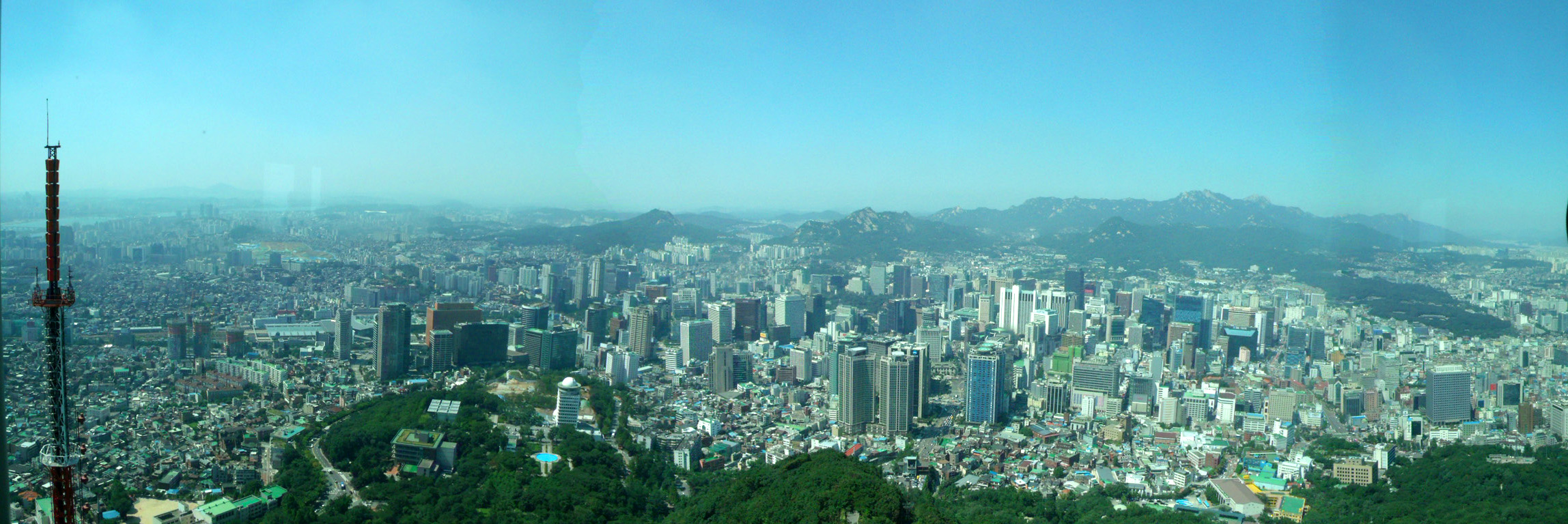 Panorama shot from Seoul Tower! South Korea