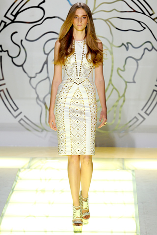 Bom wore a modified version of this dress on Ros Georgiou from Versace Spring/Summer 2012