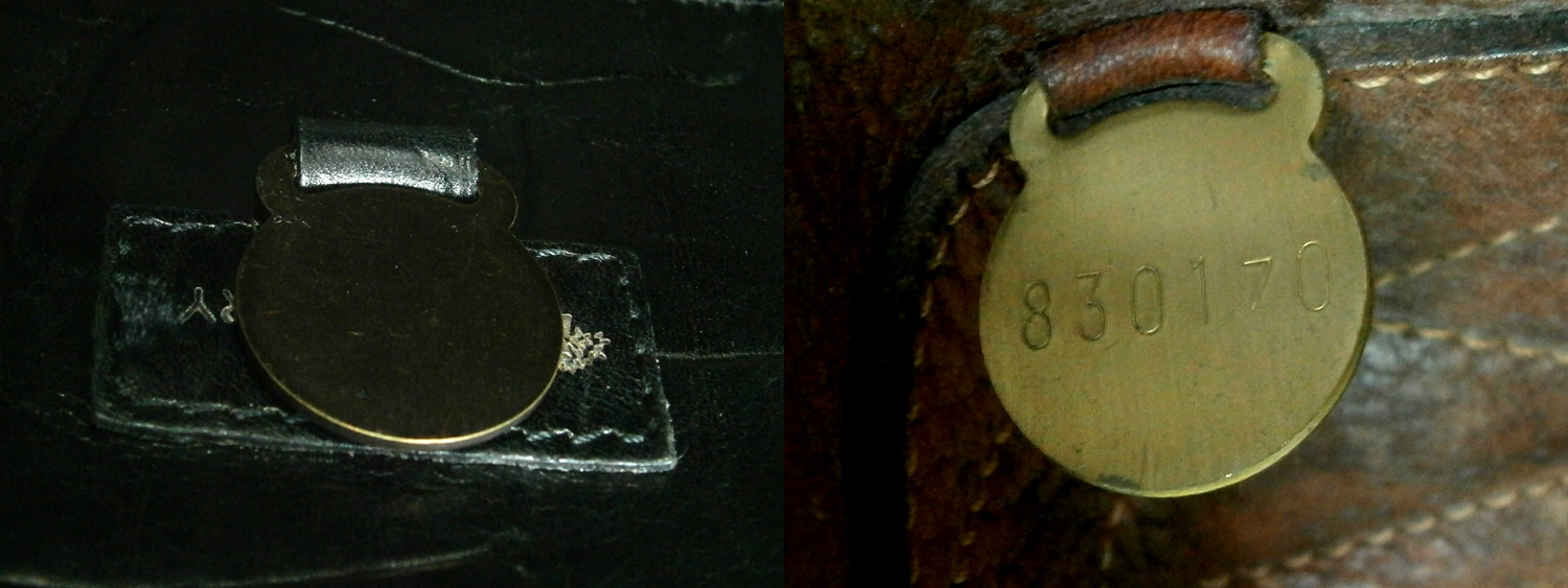 Authentic Mulberry discs - one with a serial number and one without - Manila, Philippines