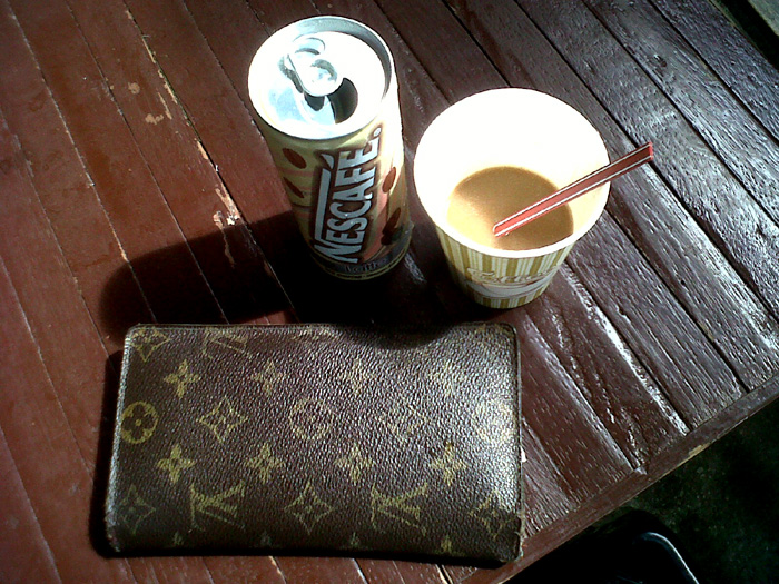 Hot coffee and cold coffee. Anything to wake me up. Louis Vuitton wallet