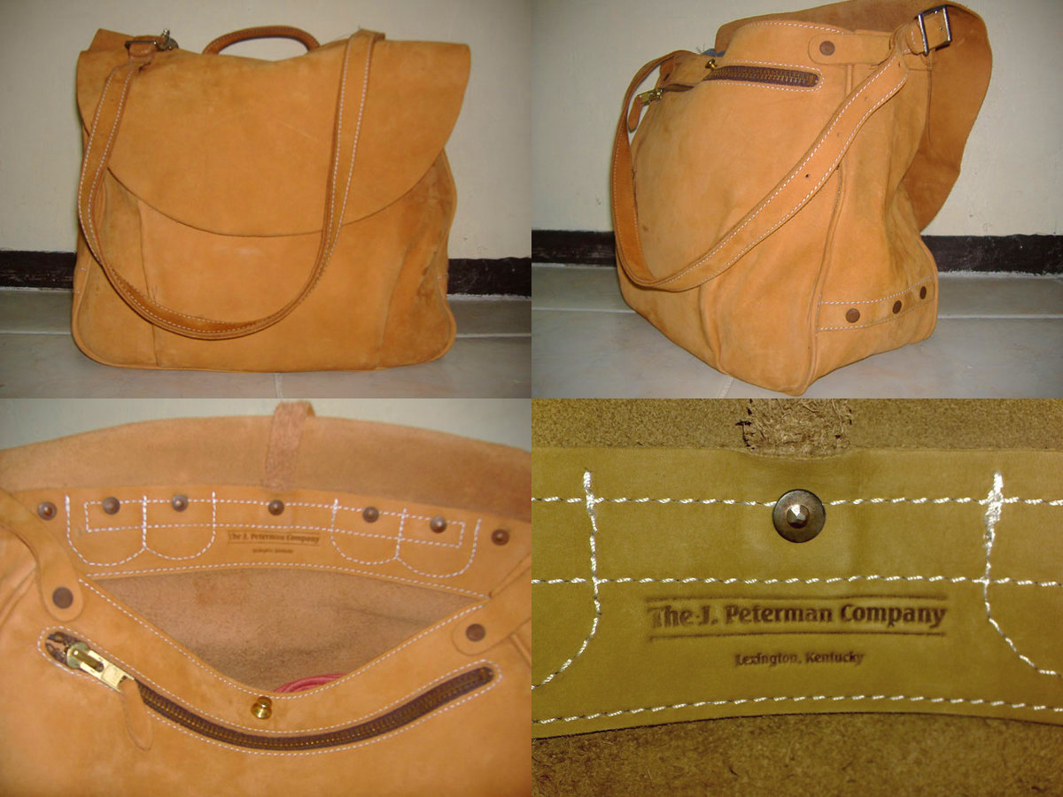 Almost brand-new J.Peterman Counterfeit Mailbag - messenger bag, Manila, Philippines