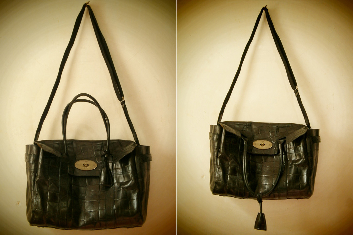 Modified Mulberry Bayswater in Congo leather with detachable straps - Manila, Philippines