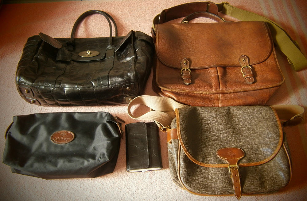 Mulberry family portrait! Mulberry Bayswater, Mulberry wexford messenger, Mulberry scotchgrain sling, Mulberry nylon pouch, Mulberry congo leather agenda - Manila, Philippines