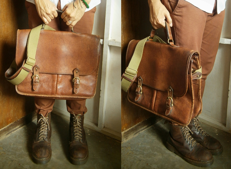 Mulberry Wexford Messenger Briefcase and Brown 8-hole Doc Martens - Mulberry Bag Philippines