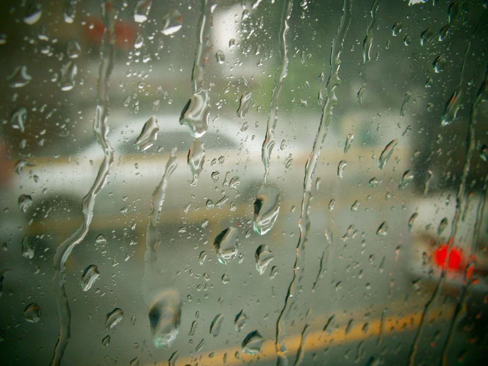 Raindrops by the window - Manila, Philippines