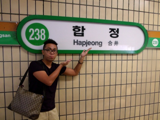 Hapjeong station! - YG Entertainment's building directions and map