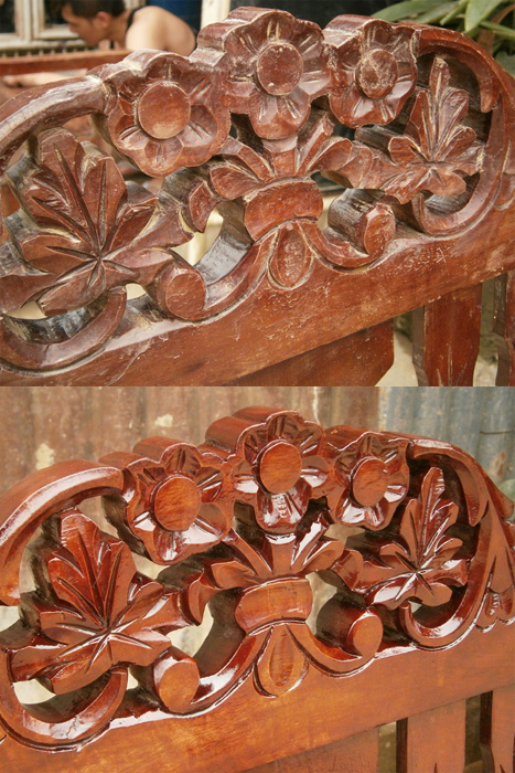 Before and after varnishing - details - Habagat, Philippines