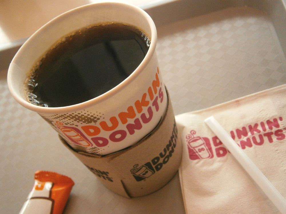 Dunkin Donuts Brewed Coffee --- for only Php 35!!! Cubao, Philippines