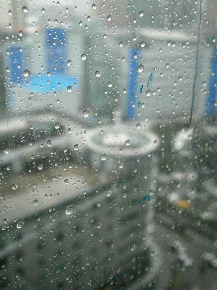 Raindrops on the glass - Makati Central Business District - Philippines