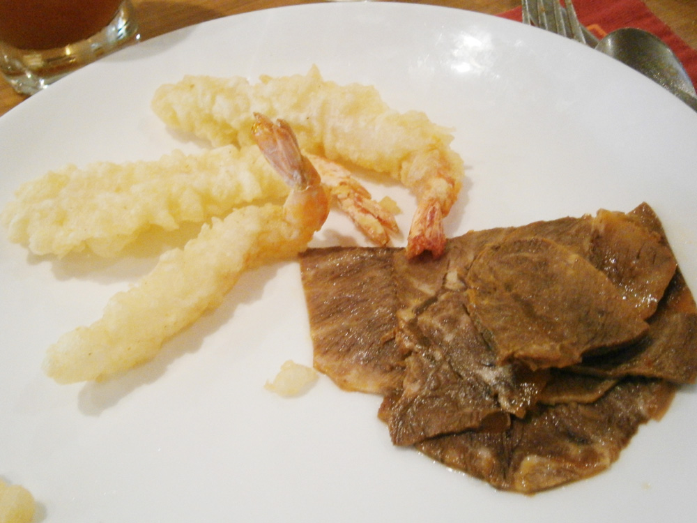 Shrimp tempura and roast beef - Heat, EDSA Shangri-la, Madnaluyong City Philippines