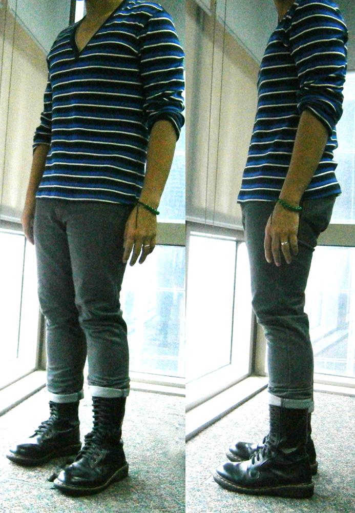 Ol' trusty sweatshirt! Cropped skinny jeans and 14-hole Doc Martens - Manila, Philippines