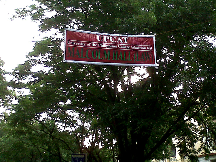 UPCAT UP Diliman Malcolm Hall