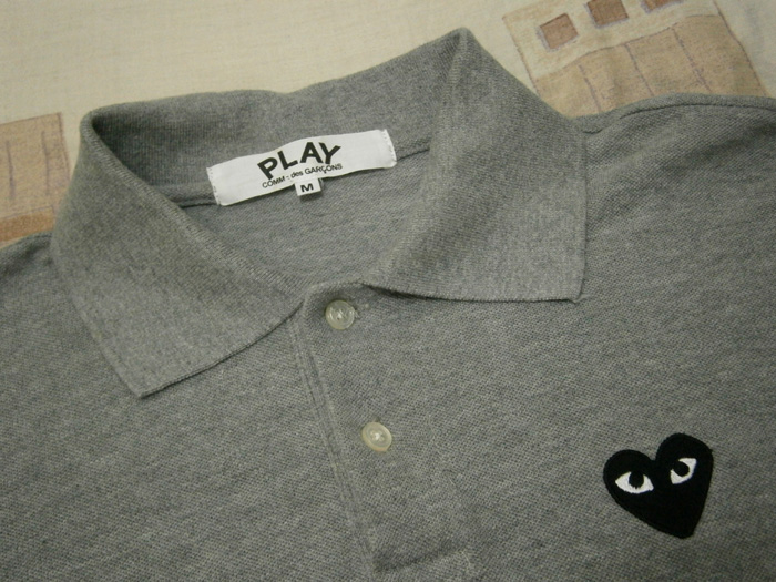 Gray Play by Comme des Garcons Polo Shirt with Black Heart - Manila, Philippines