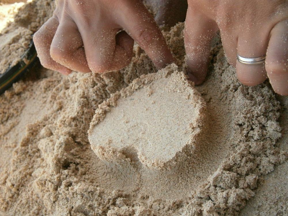 Heart on the sand - Potipot Island, Zambales