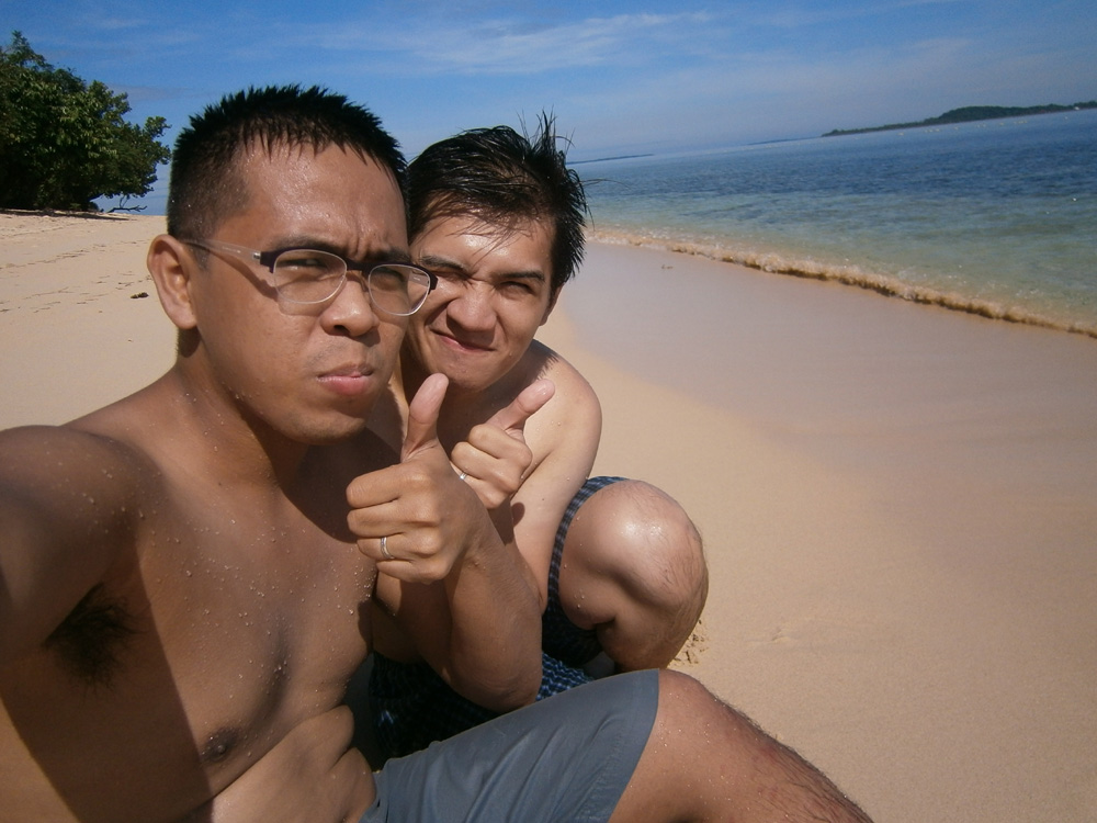 Mon and I with the waves - Potipot Island, Zambales