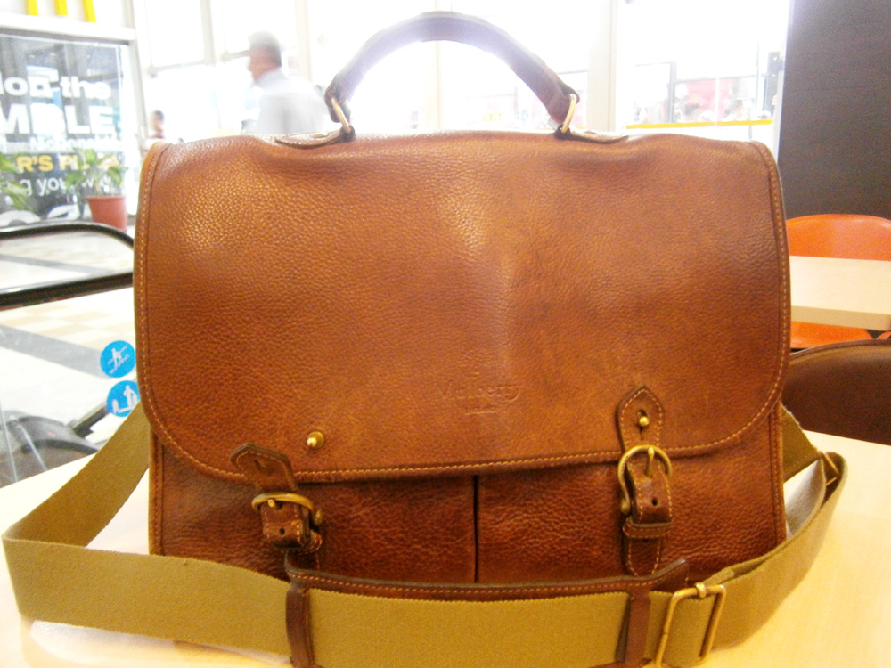 My Mulberry wexford and I waiting for our order - Mulberry bag, Philippines