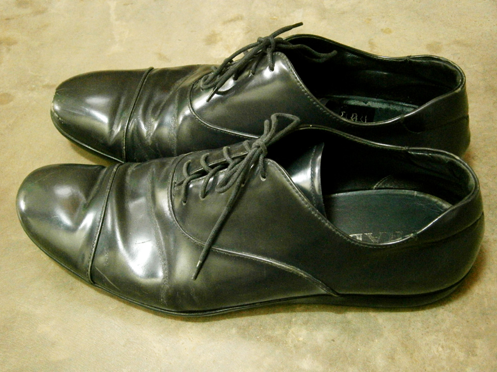 Not-So-Black Prada Leather Laceups - Manila, Philippines