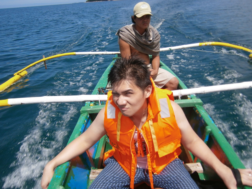 On our boat ride back to the main island - Zambales