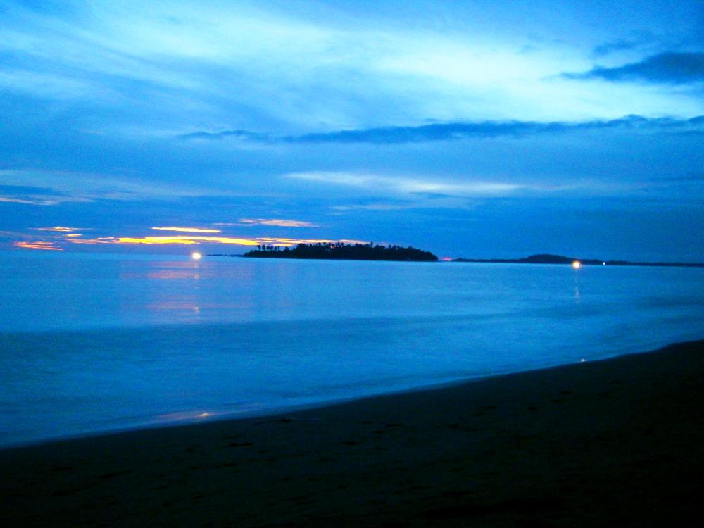 Potipot Island seen from Dawal's beachfront - Zambales