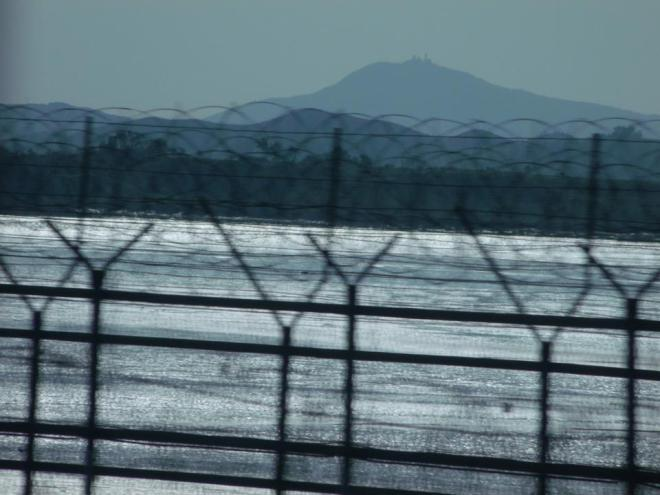 The fenced border, to protect from infiltrating North Koreans --- I think beyond that was already part of the Northern Limit Line