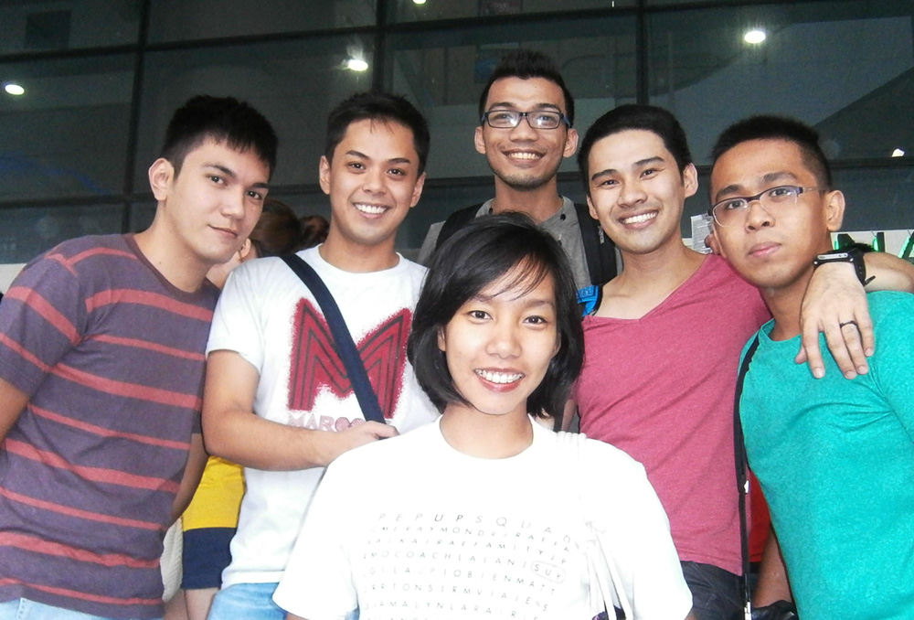 With my former teammates - UP Pep Squad alumni