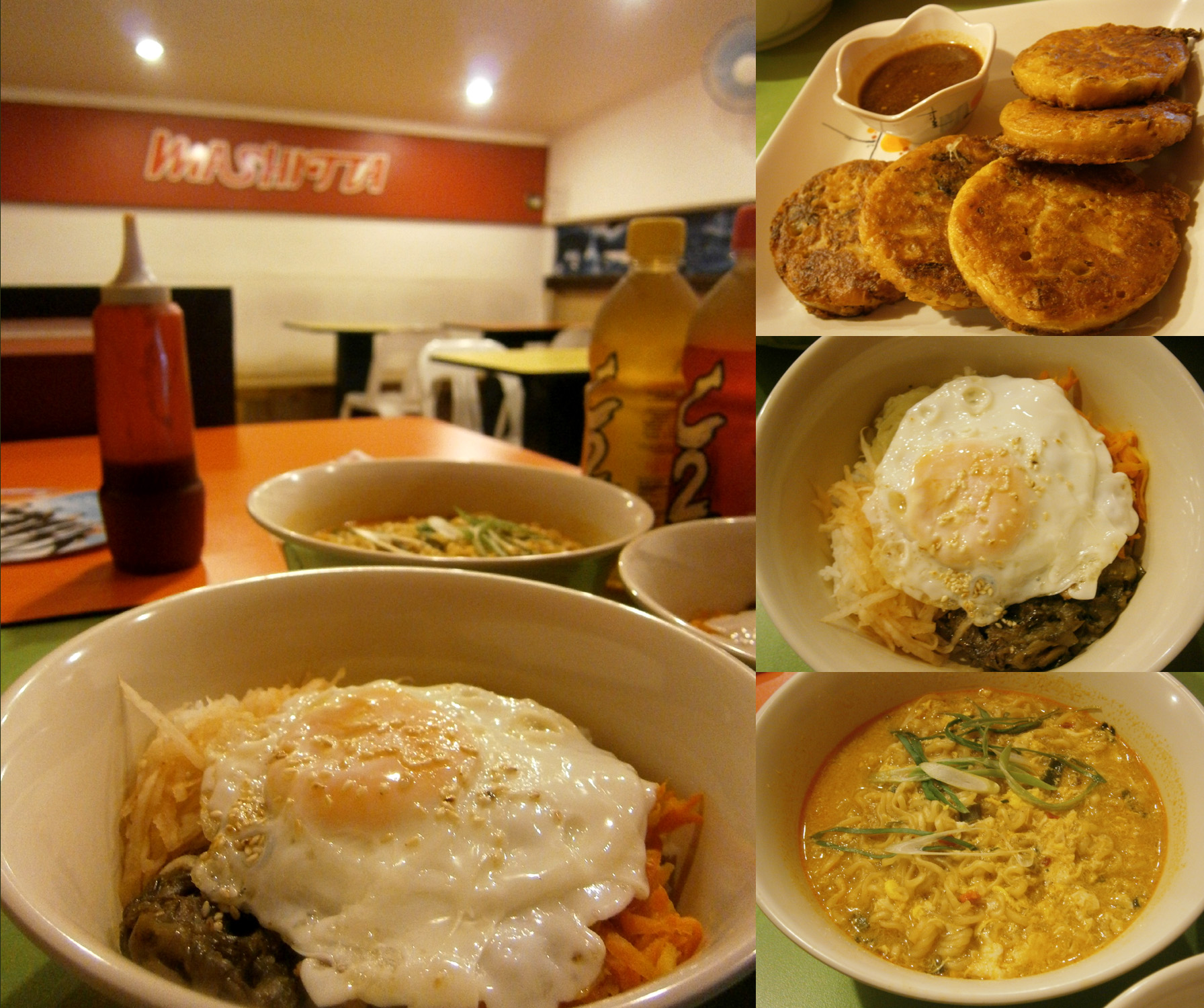 Bibimbap, Kimchijeon and Ramyun from Mashitta (Shopping Center, UP Diliman)