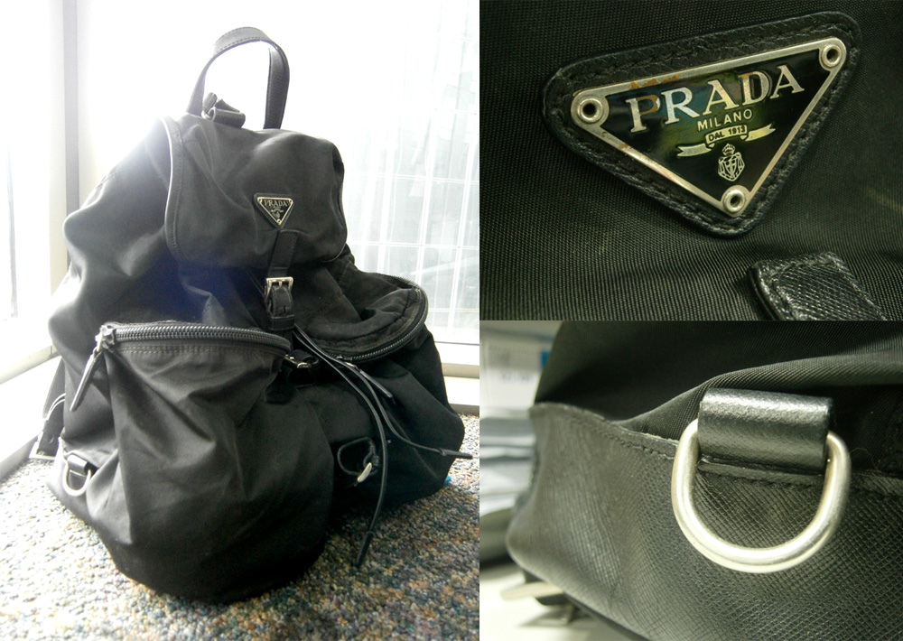 Big Prada Nylon and Saffiano Leather Backpack - Manila, Philippine