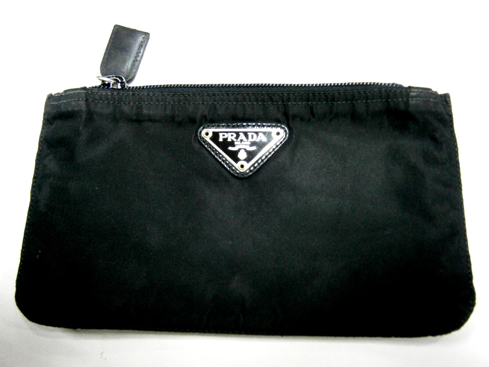 Black Prada Tessuto Zipped Pouch - Manila, Philippines