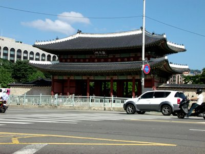 Changdeokgung from Hyundai Gas Station, Seoul, South Korea