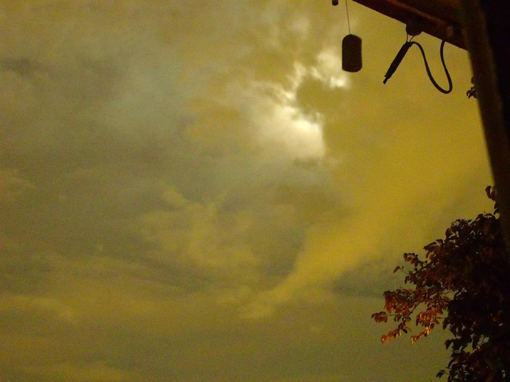Clouds obstructing the Moon - Marikina City, Philippines