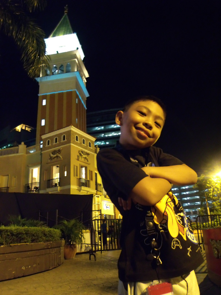 I don't know why my nephew kept on doing this pose - Venice Piazza, McKinley Hill