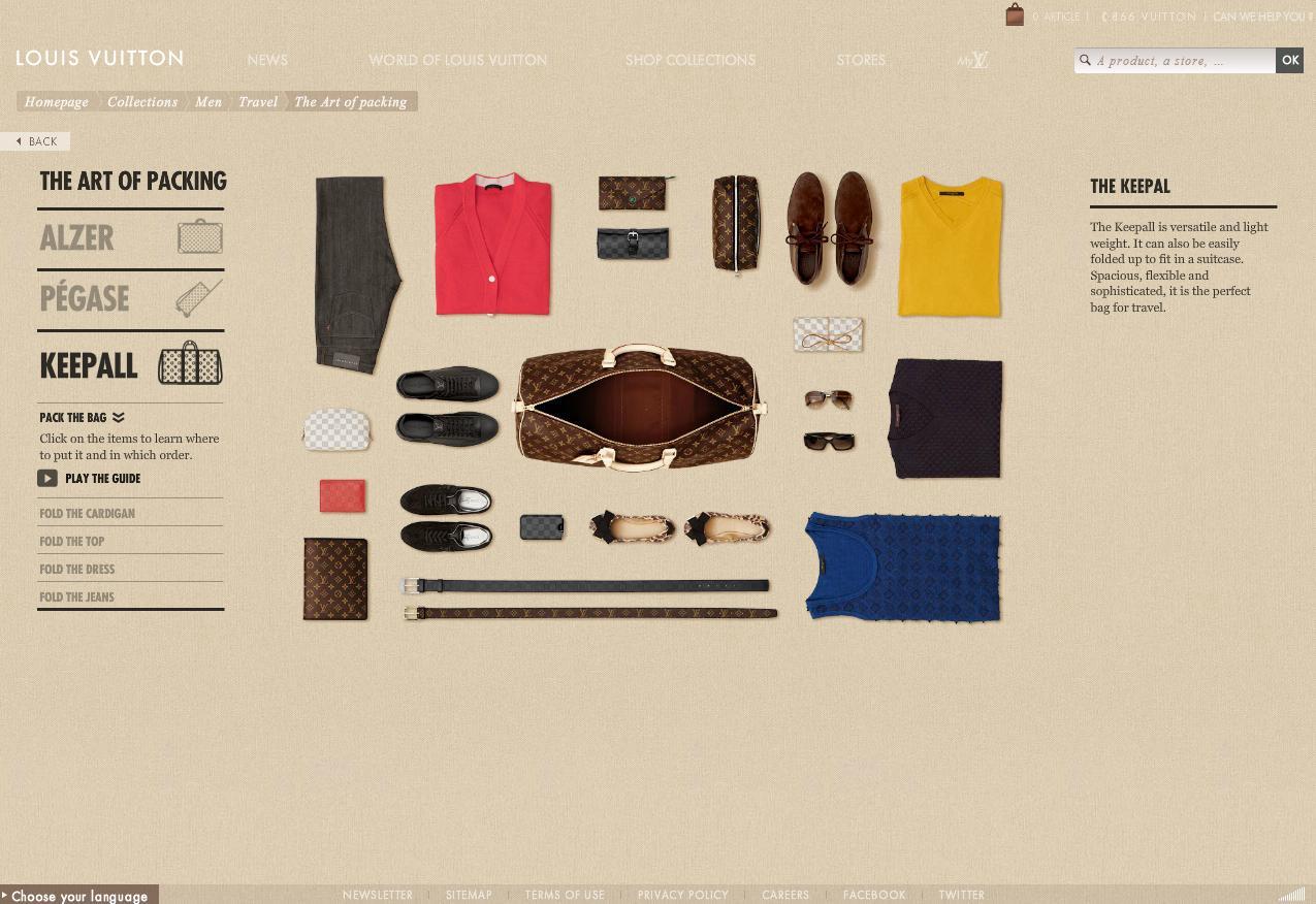 Louis Vuitton - Art of Packing from www.louisvuitton.com