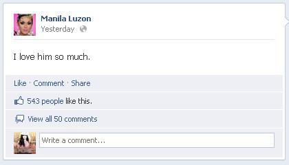 Manila Luzon's Facebook status - RuPaul's Drag Race