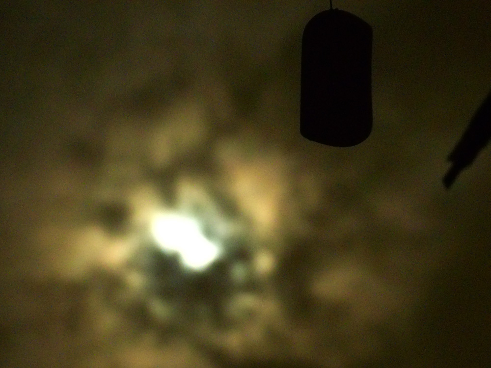 That dangly-thing on a windchime and the hazy Moon - Marikina City, Philippines